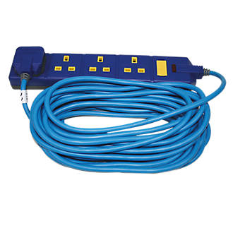Masterplug 13A 4-Gang Unswitched  Extension Lead 10m