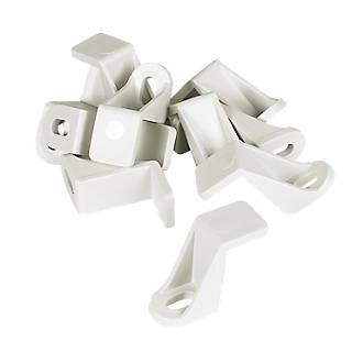 Manrose Rectangular Flat Channel Support Clip White 225mm 10 Pack