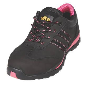 Site Dorain  Ladies Safety Trainers Black Size 7