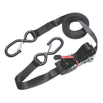 Master Lock Ratchet Straps with S-Hooks 4.25m x 25mm