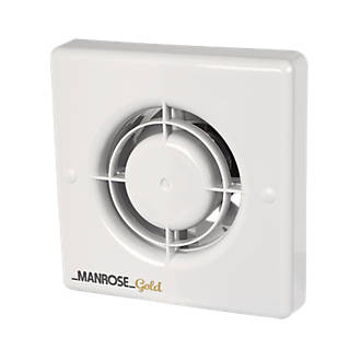 Manrose MG100T 20W Bathroom Extractor Fan with Timer White 240V