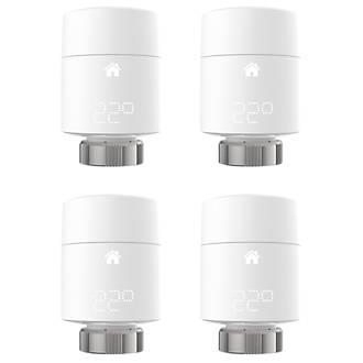 Tado   Smart Radiator Thermostat White 4 Pack