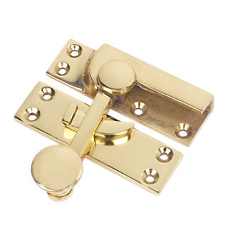 Sash Fastener Polished Brass 63 x 22mm