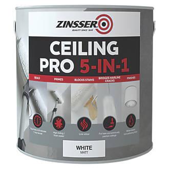 Zinsser Ceiling Pro 5-in-1 Paint White 2.5Ltr