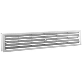 Map Vent Fixed Louvre Vent White 430 x 75mm
