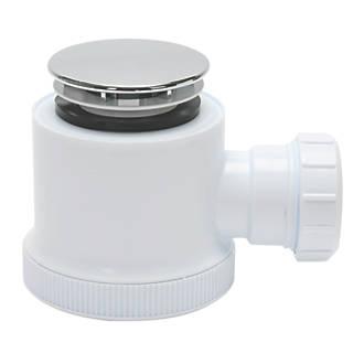 Opella Shower Waste White / Chrome 50mm