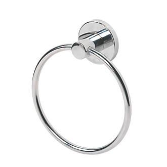 Swirl Cirque Bathroom Towel Holder Ring Chrome-Plated