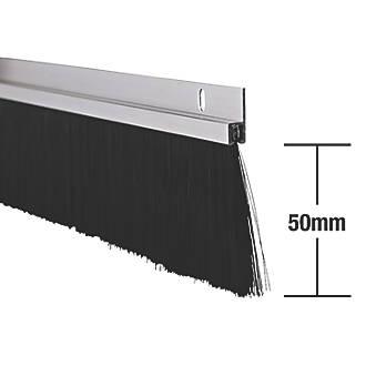 Stormguard Industrial Door Seal Aluminium 1.25m 2 Pack
