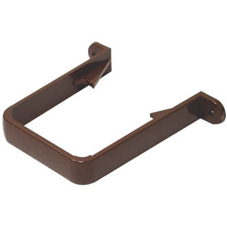 FloPlast Square Downpipe Clips 65mm Brown 10 Pack