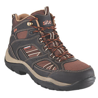 Site Ironstone   Safety Boots Brown Size 7