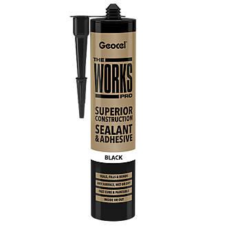 Geocel The Works Pro Sealant and Adhesive Black 290ml