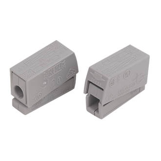 Wago  24A 2-Way Push-Wire Lighting Connector 100 Pack