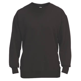 "Site Wingleaf Round Neck Sweatshirt Black Large 47"" Chest"