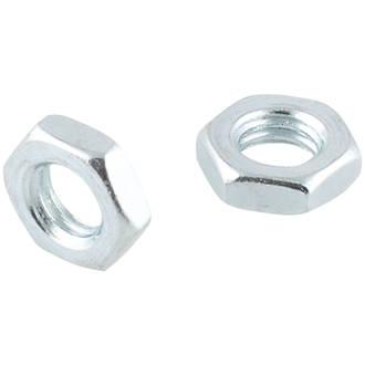 Easyfix Carbon Steel Hex Flat Nuts M8 100 Pack