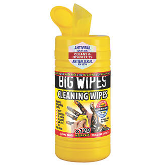 Big Wipes Cleaning Wipes Yellow 120 Pack
