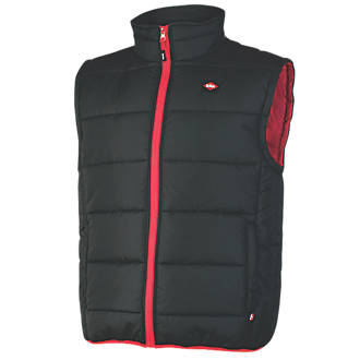 "Lee Cooper LCVST706 Quilted Padded Vest Black Large 42"" Chest"