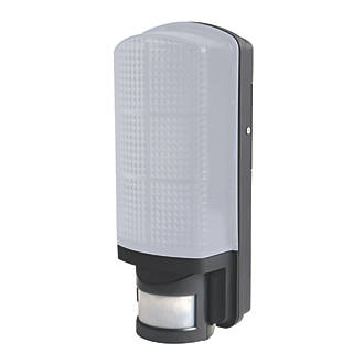 LAP AR0506 Rectangular LED Bulkhead With PIR Sensor Black 8W