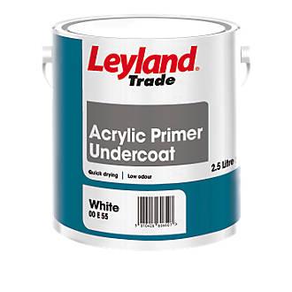 Leyland Trade Acrylic Primer Undercoat 2.5Ltr