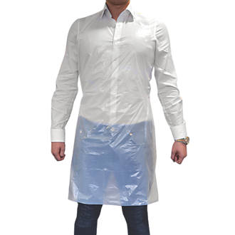 """Wallace Cameron 4803011 Disposable Aprons White Large 40"""" Chest 12 Pack"""