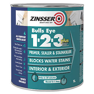Zinsser Bulls Eye 1-2-3 Plus Primer 1Ltr