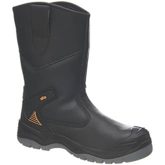 Site Hydroguard   Safety Rigger Boots Black Size 7