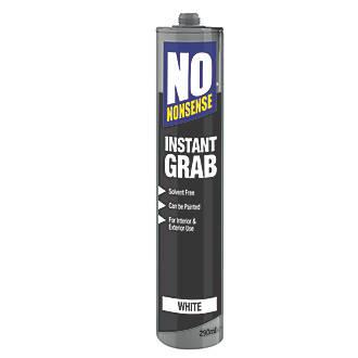 No Nonsense Instant Grab Solvent-Free Grab Adhesive  White 290ml