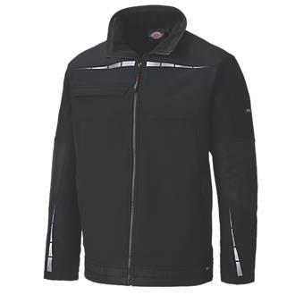 """Dickies Pro Waterproof & Breathable Work Jacket Black Large 46"""" Chest"""