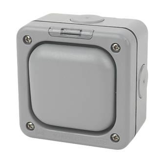 MK Masterseal IP66 10AX 1-Gang 2-Way Weatherproof Outdoor Switch with Neon