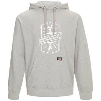 """Dickies Colrain Hooded Sweatshirt Grey X Large 52"""" Chest"""