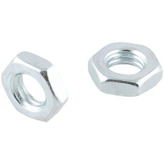 Easyfix Carbon Steel Hex Flat Nuts M6 100 Pack