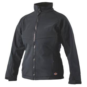Dickies Foxton Ladies Softshell Jacket Black Size 16-18