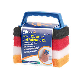 """Vitrex Grout Clean & Polishing Kit 6 x 6"""""""