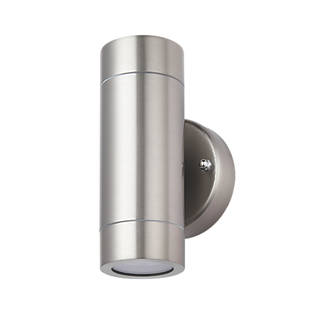 LAP Bronx Outdoor Up & Down Wall Light Stainless Steel