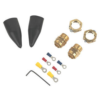 Tauras  Internal Brass 20S Gland Kit with Earthing Nut  2 Pack