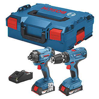Bosch 06019G5172 18V 2.0Ah Li-Ion Coolpack  Cordless Combi Drill & Impact Driver Twin Pack