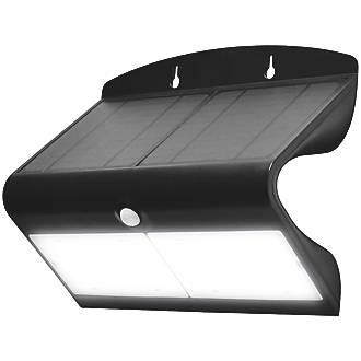 Luceco  LED Solar Wall Light With PIR Sensor Black