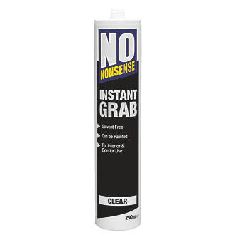 No Nonsense Instant Grab Solvent-Free Grab Adhesive  Clear 290ml