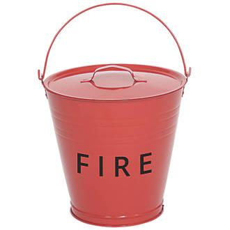 Metal  Fire Bucket & Lid 10Ltr