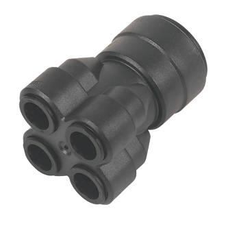 JG Speedfit  Plastic Push-Fit Reducing 4-Port Manifold 22 x 10mm