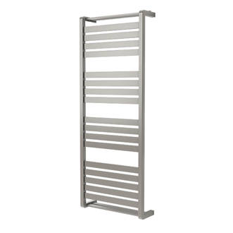 GoodHome Loreto Vertical Water Towel Warmer 1300 x 500mm Grey / Silver 2317BTU