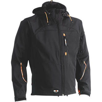 """Herock Poseidon Softshell Jacket Black X Large 50"""" Chest"""