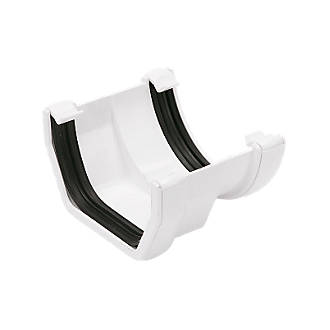 FloPlast  Square to Round Gutter Adaptor  White