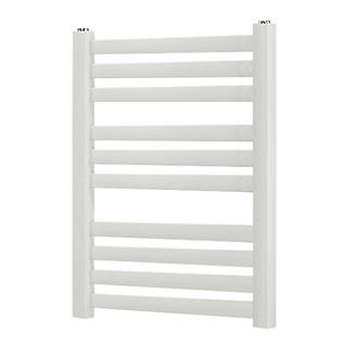 Blyss CAP08GC072 Angled Bar Towel Radiator  600 x 500mm White 938BTU
