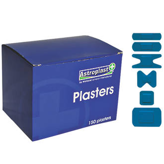 Wallace Cameron 1214087 Blue Detectable Assorted Plasters 150 Pack