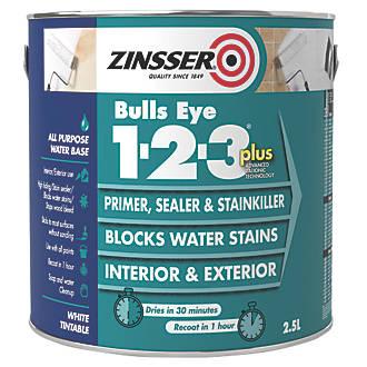 Zinsser Bulls Eye 1-2-3 Plus Primer 2.5Ltr