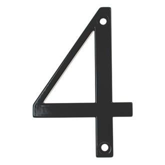 Fab & Fix Door Numeral 4 Black 80mm