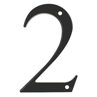 Fab & Fix Door Numeral 2 Black 80mm