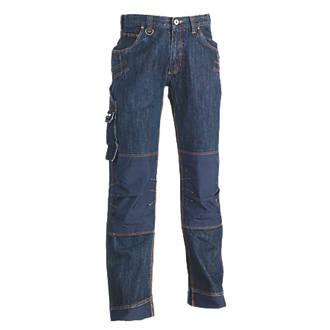 "Herock Kronos Work Jeans Dark Denim 36"" W 33"" L"