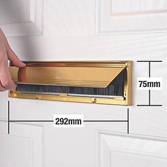 Stormguard Brush Letter Plate Gold 292 x 75mm
