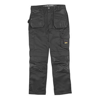 "Site Jackal Work Trousers Black 32"" W 32"" L"